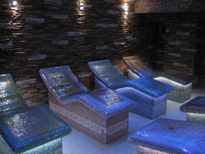Hangulatos pihenőágyak Lambda Wedi építőlemezzel - belső továbbiak ötlet, modern stílusban