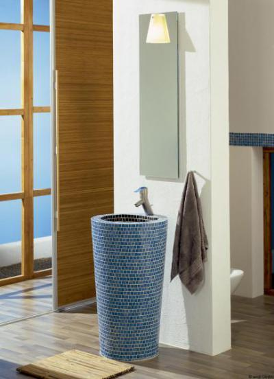 Egyedi mosdó Lambda Wedi építőlemezből - fürdő / WC ötlet, modern stílusban