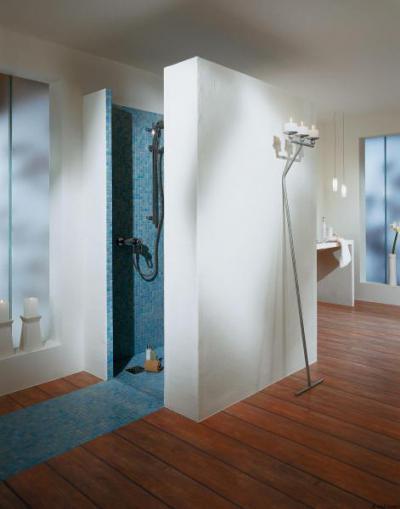 Épített zuhanyfülke Lambda Wedi építőlemez alkalmazásával - fürdő / WC ötlet, modern stílusban
