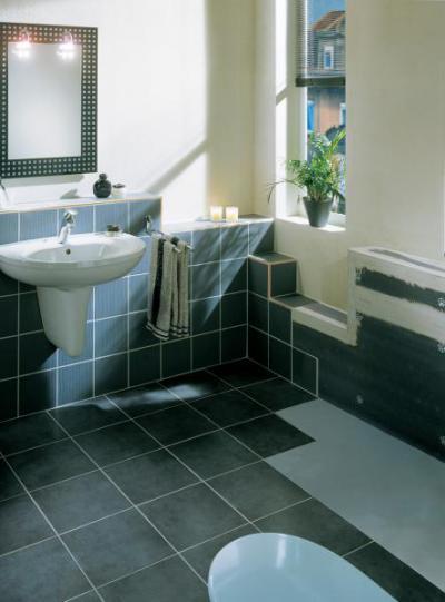 Belsőépítészeti elem Lambda Wedi építőlemezzel készítve - fürdő / WC ötlet, modern stílusban