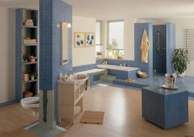 Látványos fürdőszoba Lambda Wedi építőlemez alkalmazásával - fürdő / WC ötlet, modern stílusban