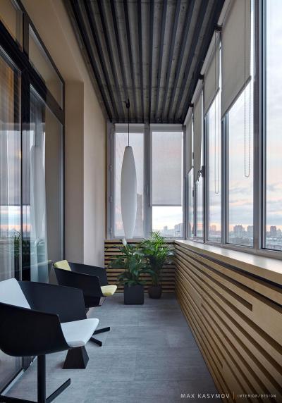 Beépített erkély - erkély / terasz ötlet, modern stílusban