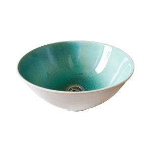 Türkiz mosdó - fürdő / WC ötlet, modern stílusban