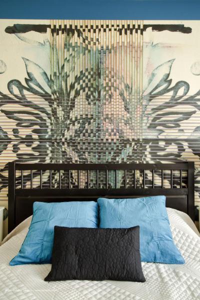 Színharmónia a hálószobában - háló ötlet, modern stílusban