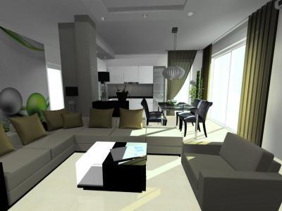 Nappali sarokkanapéval - nappali ötlet, modern stílusban