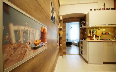 Faburkolat a konyha falán - konyha / étkező ötlet, modern stílusban