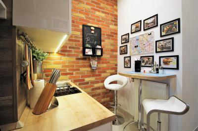 Kicsi konyhasarok - konyha / étkező ötlet, modern stílusban