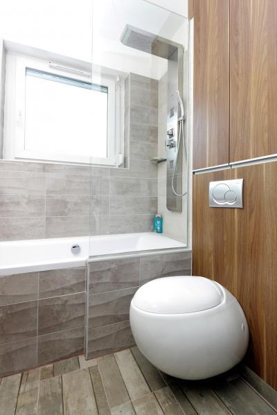 Natúr formák és színek a fürdőben - fürdő / WC ötlet, modern stílusban