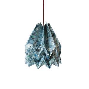 Orikomi Virágos origami lámpaernyő, kék
