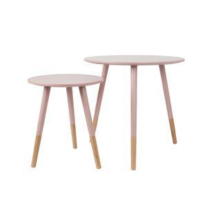 Leitmotiv Púderrózsaszín asztal szett