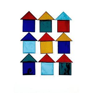 Tűzzománc házszámhoz kiegészítő - háromszög - kert / udvar ötlet, klasszikus stílusban