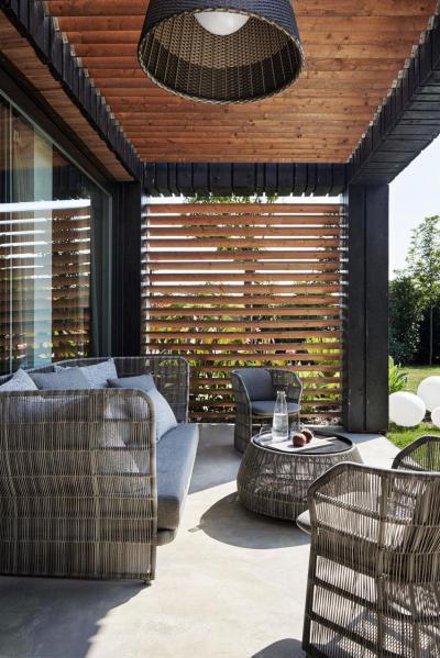 Látványos veranda - erkély / terasz ötlet, modern stílusban