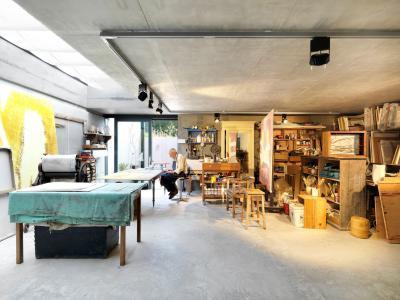 Műhely a garázsban - belső továbbiak ötlet, modern stílusban
