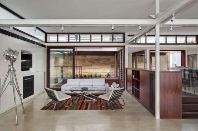 Látványos világítás a nappaliban - nappali ötlet, modern stílusban