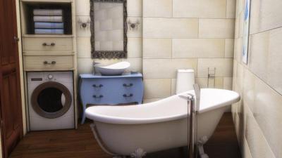 Vintage stílusú fürdőszoba - fürdő / WC ötlet, klasszikus stílusban