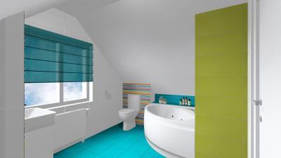 A kék dominanciája - fürdő / WC ötlet, modern stílusban
