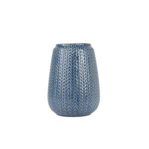 Present Time Kötött mintás váza, kék, nagy