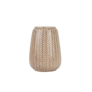 Present Time Kötött mintás váza, karamell, nagy