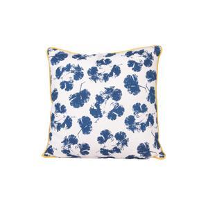 Present Time Díszpárnahuzat, kék virágos, 45x45