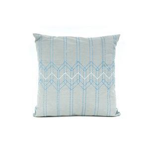 Present Time Díszpárnahuzat, stitch, kék, 45x45