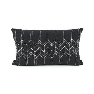 Present Time Díszpárnahuzat, stitch, szürke, 50x30