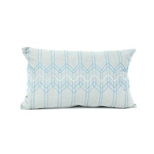 Present Time Díszpárnahuzat, stitch, kék,50x30