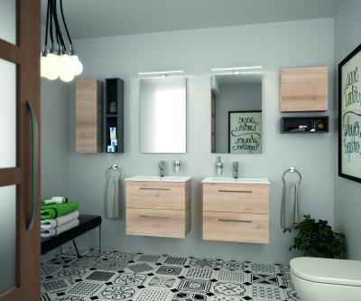 Kicsi fürdőszoba épített zuhanyfülkével // HOMEINFO.hu - Inspirációtár