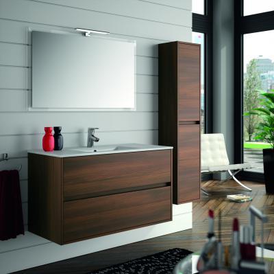 Salgar Noja fürdőszoba bútor sötét színben - fürdő / WC ötlet, modern stílusban