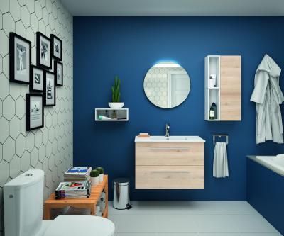 Salgar S35 fürdőszoba bútor natúr színben - fürdő / WC ötlet, modern stílusban