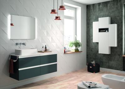 Salgar Spirit fürdőszoba bútor fekete és fehér felülettel - fürdő / WC ötlet, modern stílusban