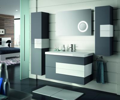Salgar Cronos fürdőszoba bútor fekete-fehér színben - fürdő / WC ötlet, modern stílusban