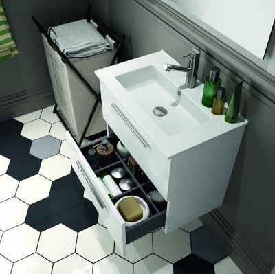 Salgar S35 fürdőszoba bútor fehér színben - fürdő / WC ötlet, modern stílusban