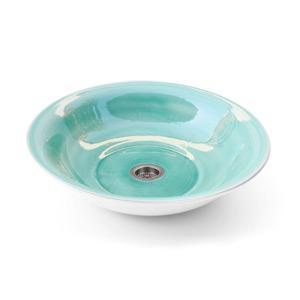 Türkiz mosdókagyló - fürdő / WC ötlet, modern stílusban