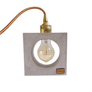 Beton lámpa Edison izzóval