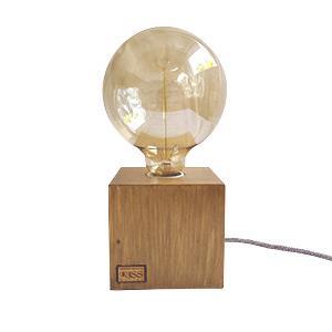 Kocka falámpa Edison izzóval