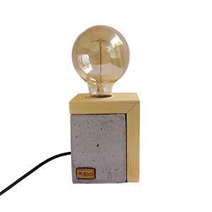Fa-beton lámpa Edison izzóval
