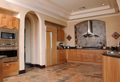 Modern konyha klasszikus környezetben - konyha / étkező ötlet