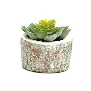 Fehér-rozé arany beton virágtartó