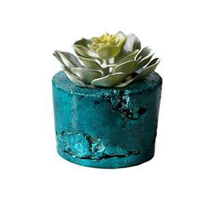 Különleges türkiz beton virágtartó