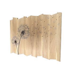 Falikép fából pitypanggal