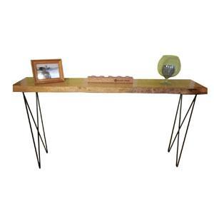 Cseresznye live-edge előszoba asztal, haiprin lábakkal