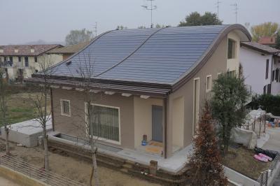 Tegosolar energiatermelő zsindely - tető ötlet, modern stílusban
