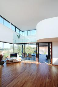 Benapozott enteriőr - nappali ötlet, modern stílusban