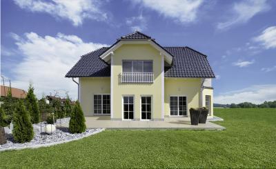 Klasszikus stílusú lakóház klasszikus ablakokkal - homlokzat ötlet, klasszikus stílusban