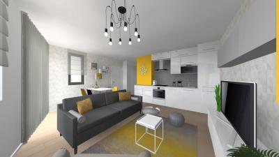 Modern nappali konyhával - nappali ötlet, modern stílusban