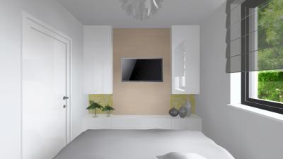 Fehérre hangolt hálószoba - háló ötlet, modern stílusban