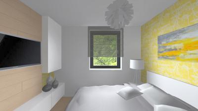 Minimál stílusú hálószoba kevés dekorációval - háló ötlet, modern stílusban