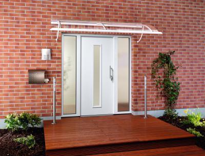 Üvegezett bejárati ajtó - bejárat ötlet, modern stílusban
