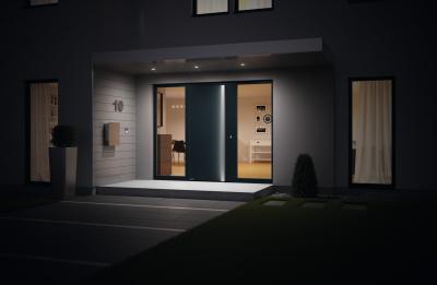 Bejárati ajtó minimál stílusban - bejárat ötlet, modern stílusban
