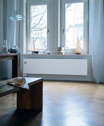 Zehnder Radiapanel beépített szelepes szobai radiátor  - nappali ötlet, modern stílusban
